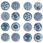 Kek Amsterdam Königsblau Tapete blau Vlies Pappteller 97,4x280cm