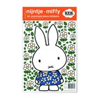 Kek Amsterdam Wall sticker Miffy Floral dress multi-colored vinyl foil S 21x33cm