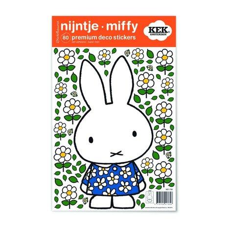 Kek Amsterdam Wandaufkleber Miffy Blumenkleid Mehrfarbenvinylfolie S 21x33cm