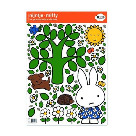 Kek Amsterdam Wall sticker Miffy large tree multicolour vinyl foil M 42x59cm