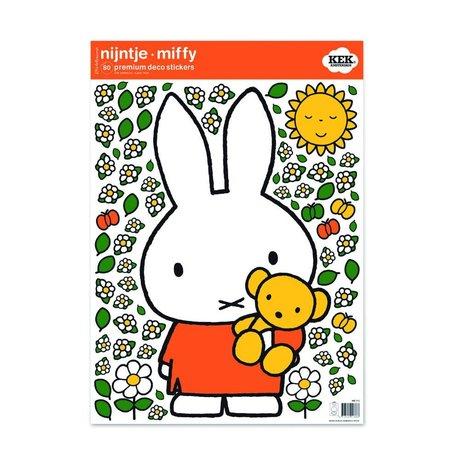 Kek Amsterdam Wall Sticker Miffy Teddy bunte vinyle M 42x59cm