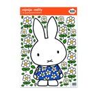 Kek Amsterdam Wall Sticker Miffy robe fleur film vinyle multicolore M 42x59cm
