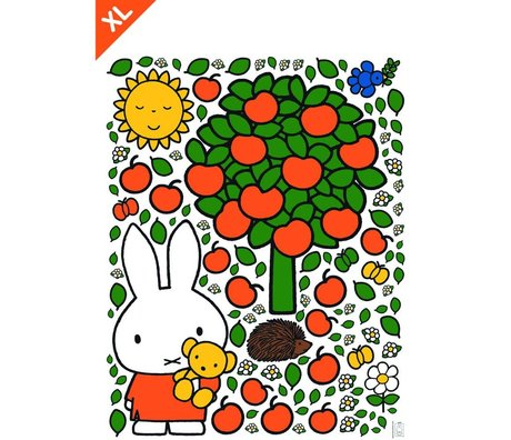 Kek Amsterdam Wall Sticker Miffy pomme vinyle coloré XL 95x120cm