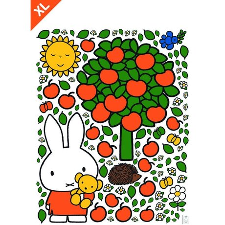 Kek Amsterdam Wall sticker Miffy apple colorful vinyl foil XL 95x120cm