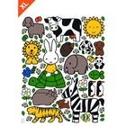 Kek Amsterdam Wall Sticker amoureux des animaux Miffy XL multicouleur vinyle de 95x120cm
