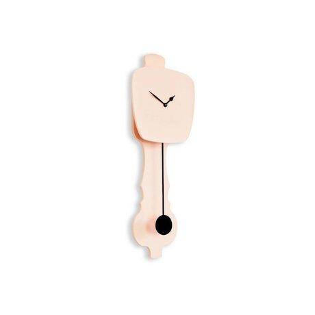 KLOQ Horloge rose petit 59x20,4x6cm bois noir