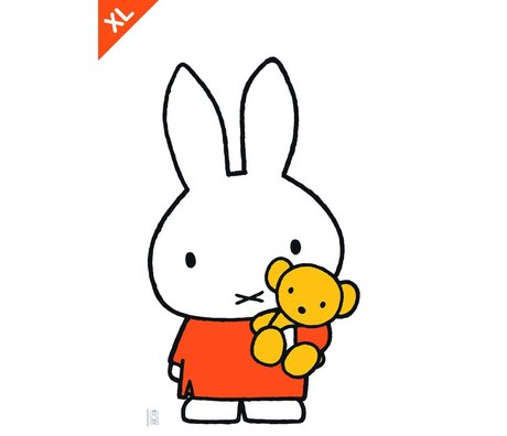 Kek Amsterdam Wall sticker Miffy colorful vinyl foil XL 70x120cm