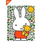 Kek Amsterdam Wall Sticker Miffy Ours en peluche vinyle multicolore XL 94x120cm