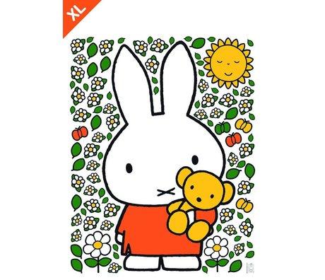 Kek Amsterdam Wall Sticker Miffy Orsacchiotto multicolore vinile XL 94x120cm