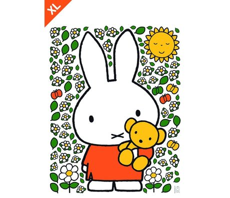 Kek Amsterdam Wandaufkleber Miffy Teddybär Mehrfarbenvinylfolie XL 94x120cm