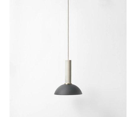 Ferm Living Hope that pendulum light high black light gray metal