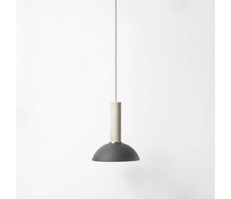 Ferm Living Speranza lampada a sospensione alta nero luce grigio metallizzato