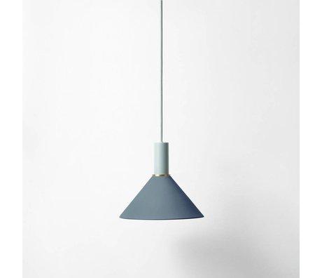 Ferm Living Cono Hängelampe bassa blu metallo grigio chiaro scuro