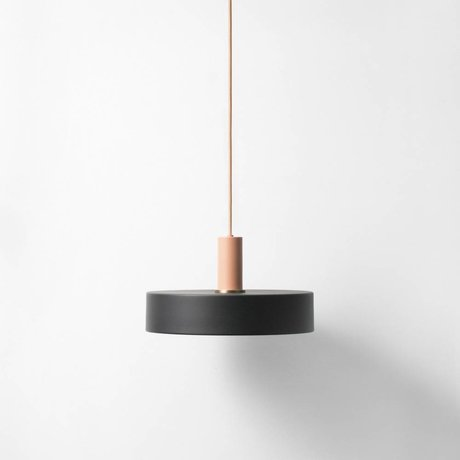 Ferm Living Take low hanging lamp black pink metal