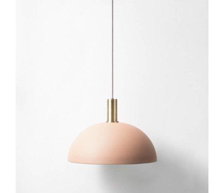 Ferm Living Lámpara de suspensión Dome latón bajo oro rojo de metal
