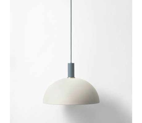 Ferm Living Hanging light dome low light gray dark blue metallic