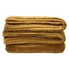 HK-living Quilt gefüttert Ockergelb Samt 230x250cm stonewashed