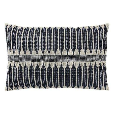 HK-living Coussin aztèque coton blanc noir 40x60cm
