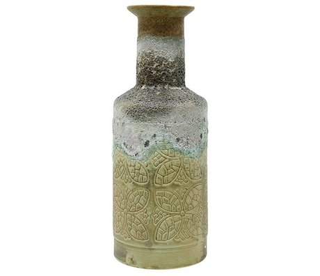 HK-living Vase Retro- Mehrfarben Keramik 16x16x41,5cm