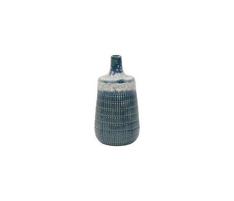 HK-living M blu ceramic 10,6x10,6x20,5cm vaso