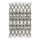 HK-living Berber carpet hand knotted wool black and white 120x180cm