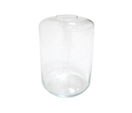 HK-living Vase Mini jardin 28x28x44cm en verre transparent