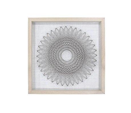 HK-living Art Frame 50x6x50cm cercle de fil