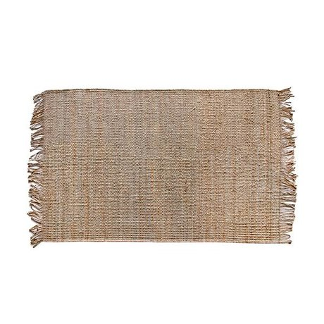 HK-living Teppich natürliche braune Sackleinen 120x180cm