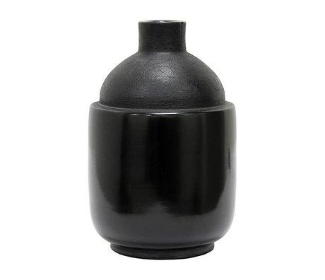 HK-living Vase M Chulucanas black ceramic 16,5x16,5x26cm