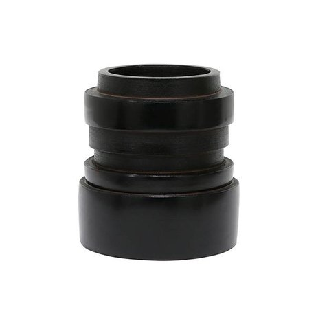 HK-living Vase S Chulucanas poterie noire 14x14x15cm
