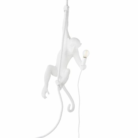 Seletti The Monkey Hängelampe white nylon 27x30x80cm