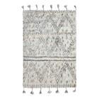 HK-living Berber carpet hand-weaved wool gray white 120x180cm