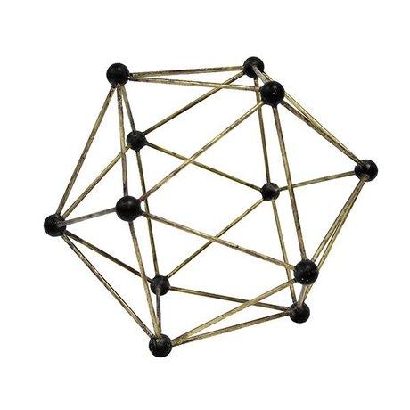 HK-living ornement moléculaire Laiton 25x25x25cm