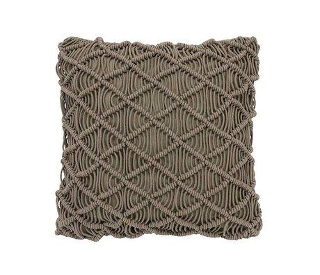 HK-living coton oreiller macramé vert 50x50cm