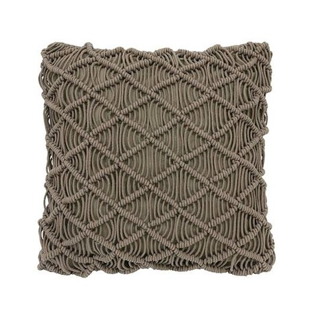HK-living Cushion green macrame cotton 50x50cm