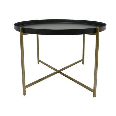 HK-living Side Table L Messing Messing sort 63x63x40cm