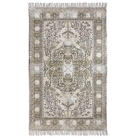 HK-living Teppich besonders überfärbtem Mehrfarben Baumwolle 120x180cm