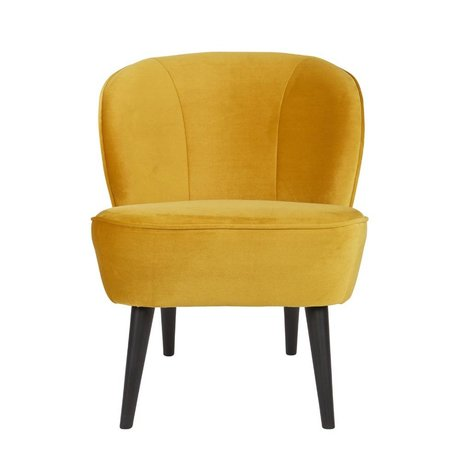 LEF collections Sara fauteuil velours ocre