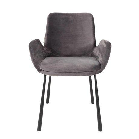 Zuiver Comedor silla Brit 59x62x79cm poliéster oscura