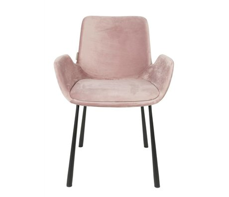 Zuiver Dining Chair Brit pink polyester 59x62x79cm