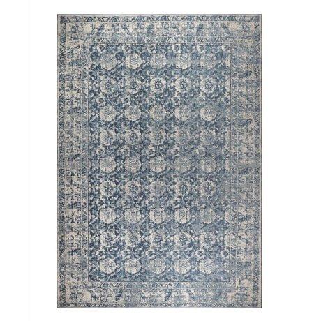 Zuiver Teppich Malva Denim blau Baumwolle 300x200cm