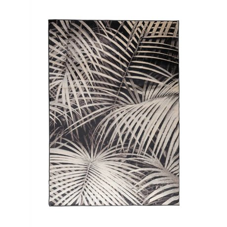 Zuiver Alfombra de Palm en la noche negro 240x170cm textiles