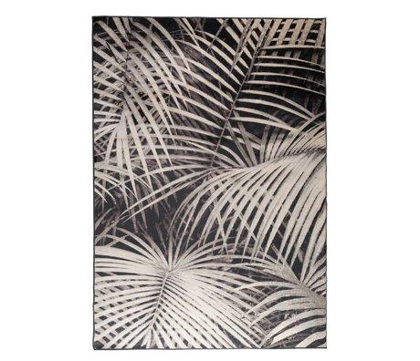 Zuiver Carpet Palm in the night black textile 300x200cm