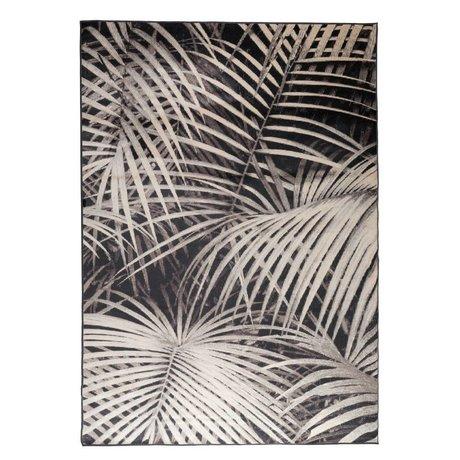 Zuiver Tapis Palm nuit 300x200cm textile noir