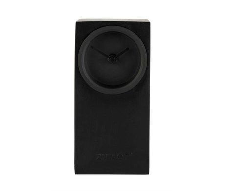 Zuiver Tischuhr Brick schwarz Metall 9x9x19cm