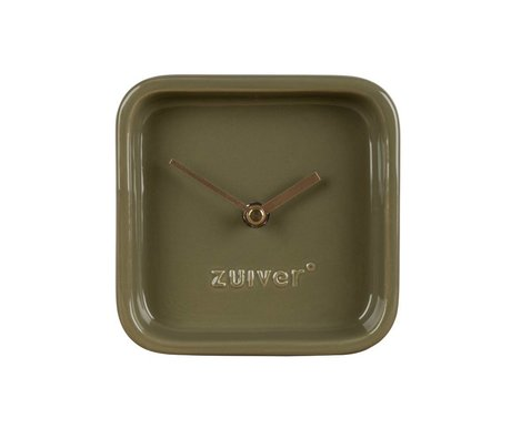 Zuiver Orologio carino 13,5x6x13,5cm ceramica verde