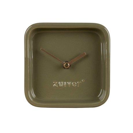 Zuiver Clock nette grüne Keramik 13,5x6x13,5cm