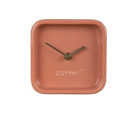 Zuiver Orologio sveglia 13,5x6x13,5cm ceramica rosa