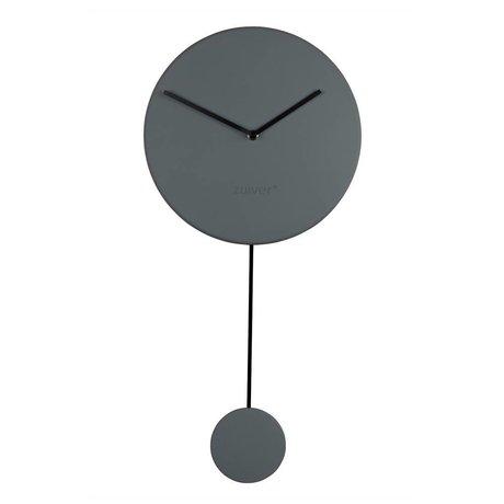 Zuiver Orologio da parete minima 30x4x63cm plastica grigia