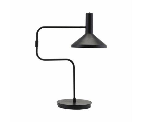 Housedoctor Lampada da tavolo in metallo nero 66 centimetri